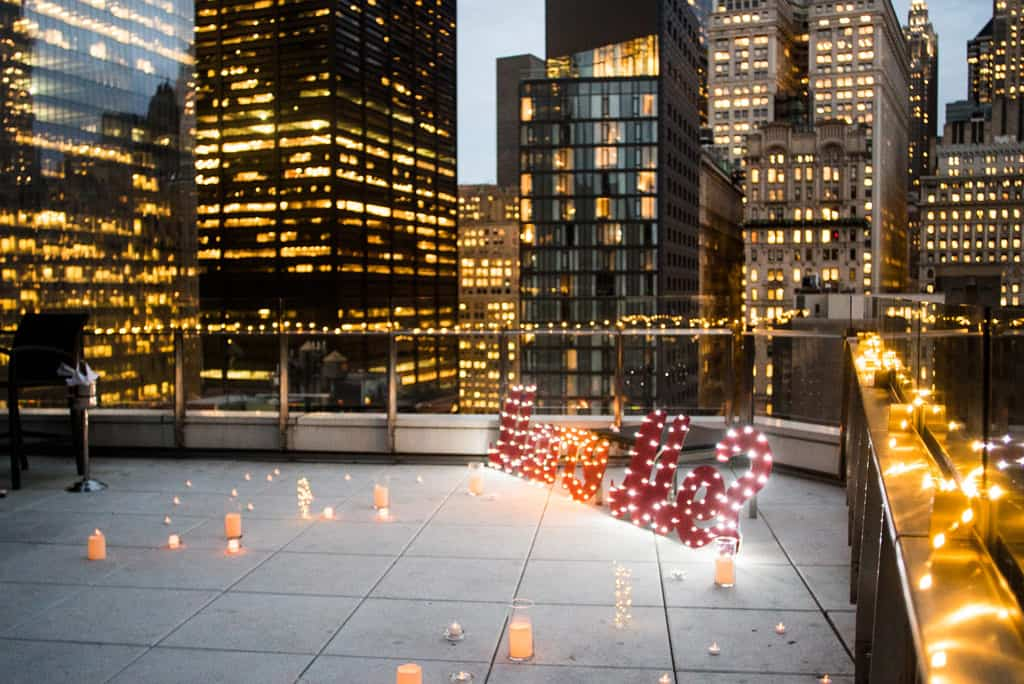Cheap rooftop for Marriage proposal in NYC