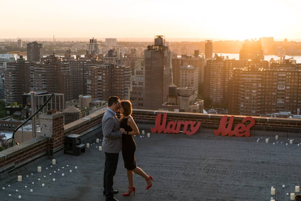 wedding proposal rooftop in nyc