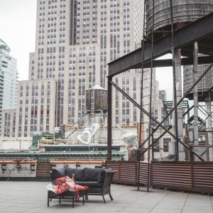 private rooftop for proposal with Empire state building view