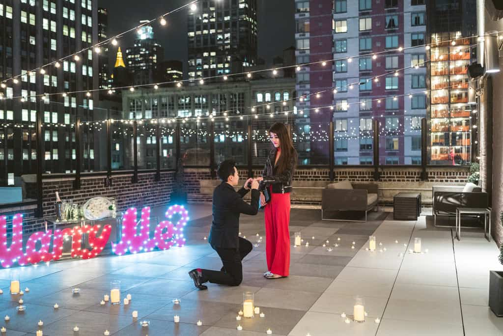 Marriage proposal on Rooftop in NYC
