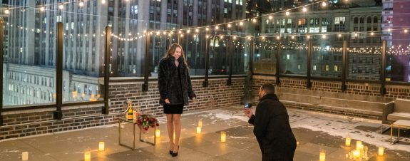 Winter rooftop proposal NYC